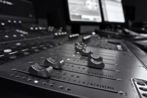Avid_Digidesign_ICON_D-Command_Faders_(B&W)_-_Control_Room_B,_In_Your_Ear_Studios