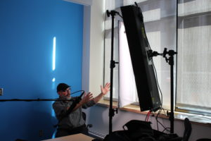 setting up the diffusion and key light