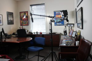 video production interview set up